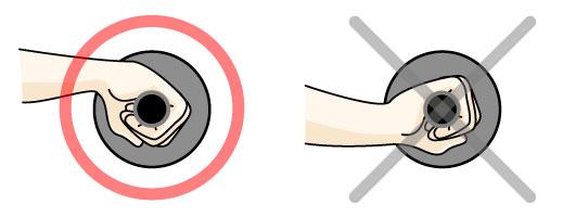 腹筋ローラーの手首の位置