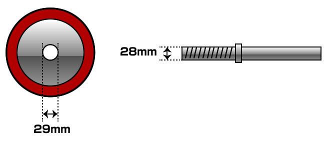 ダンベルシャフトサイズ
