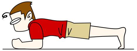 腹筋を鍛えて割る1 プランク (フロントブリッジ)【腹筋上部・下腹部・腹横筋・腸腰筋】