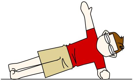 腹筋を鍛えて割る10 左サイドプランク (サイドブリッジ)【腹斜筋・金魚筋】