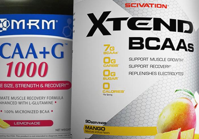 MRM BCAA+G1000とエクステンドBCAAを比較【筋トレ効果UPはどっち?】