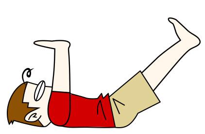 腹筋を割る鍛え方3 天井押しクランチ【腹筋上部・下部】