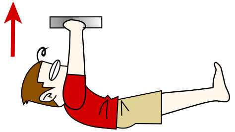 腹筋を割る鍛え方4 天井押しクランチの応用【腹筋上部・下部】