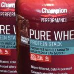 Champion PERFORMANCE(チャンピオンパフォーマンス) Pure Whey Plusを飲み比べ&評価