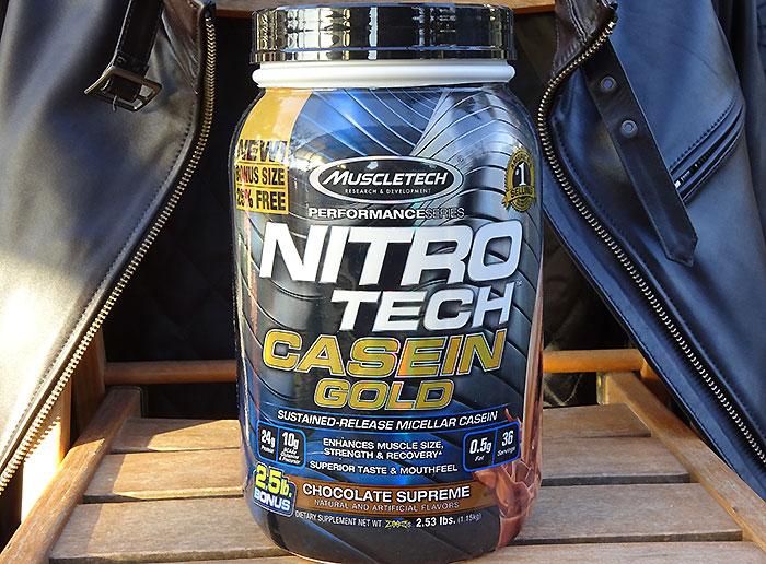 【レビュー】Nitro-Tech Casein Goldはカゼインプロテイン初の人にもおすすめな理由