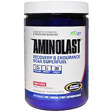 【iHerb】Gaspari Nutrition, Aminolast、回復&持久力・分岐鎖アミノ酸の超燃料、フルーツパンチ、14.8 oz (420 g)