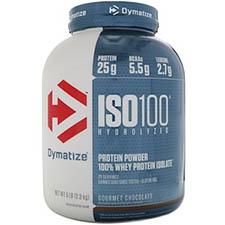Dymatize Nutrition, ISO 100加水分解化、100%ホエイプロテインアイソレート、グルメチョコレート、5 Lbs (2.3 kg)