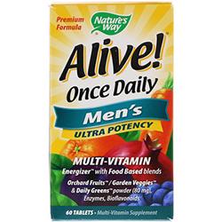 Nature's Way, Alive! 毎日1粒, 男性のマルチビタミン, 60粒