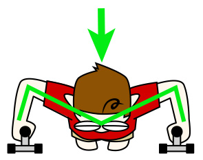 大胸筋下部のためのプッシュアップ