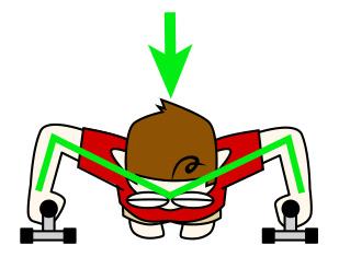 大胸筋内側(中部)のためのプッシュアップ