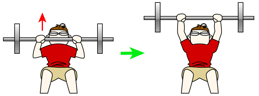 大胸筋上部のためのインクラインベンチプレス