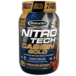 【iHerb】Muscletech, Performance Series, Nitro Tech Casein Gold, Chocolate Supreme, 2.53 lbs (1.15 kg)
