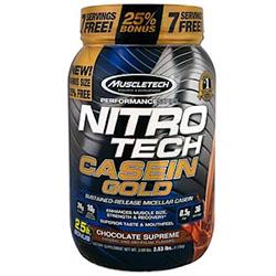【iHerb】Muscletech, Performance Series, Nitro Tech Casein Gold, Chocolate Supreme, 2.53 lbs (1.15 kg)