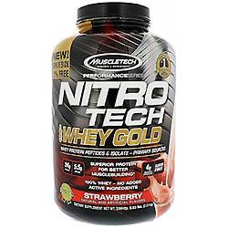 【iHerb】Muscletech, ニトロテック、100%ホエイゴールド、ダブルリッチチョコレート、5.53 lbs (2.51 kg)