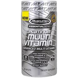 Muscletech, エッセンシャルシリーズ、プラチナマルチビタミン、90カプレット