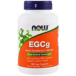 【iHerb】Now Foods, EGCg、緑茶エキス、400 mg、180野菜カプセル