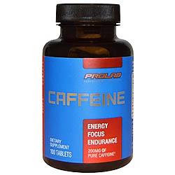 【iHerb】ProLab, プロラブ, カフェイン、200 mg、100錠