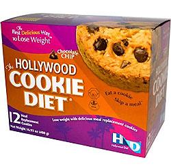 Hollywood Diet, ハリウッドクッキーダイエット、 チョコレートチップ、 食事代用クッキー12枚