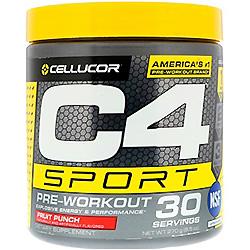 Cellucor, C4スポーツ、プレワークアウト、フルーツポンチ、9.5オンス (270 g)