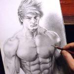 えんぴつ画で筋肉を描いてみた! いやマジでwww。