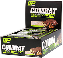 MusclePharm, コンバットクランチ、チョコレートチップクッキードー 12バー入り 26.67 oz (756 g)