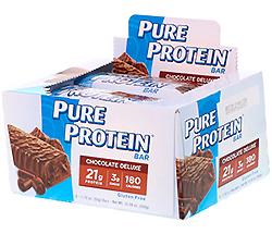 Pure Protein, ハイ・プロテイン・バー、チョコレート・デラックス、バー6本、各1.76 オンス (50 g)