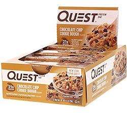 Quest Nutrition, プロテインバー、チョコレートチップ・クッキー生地、12枚、各2.12 oz (60 g)