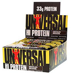 Universal Nutrition, ハイ・プロテイン・バー、チョコレート・ブラウニー、 バー16 本、各 3オンス (85 g)