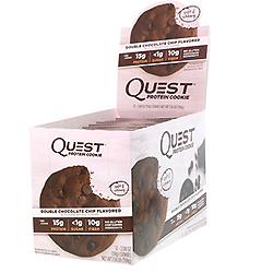 Quest Nutrition, プロテインクッキー、ダブルチョコレートチップ、12パック、各2.08 oz (59 g)