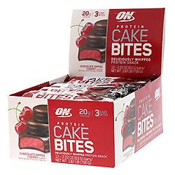 Optimum Nutrition, Protein Cake Bites, チョコレートディッパーチェリーフレーバー 2本、各63g