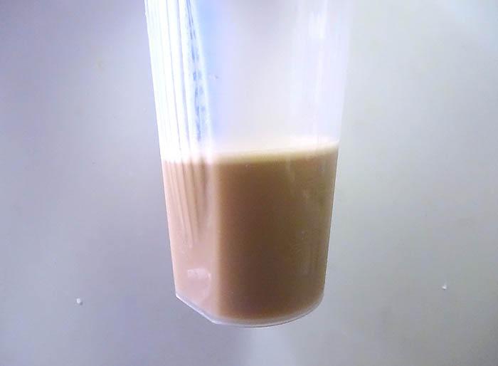 マイプロテイン ミルクティー味の溶けやすさ