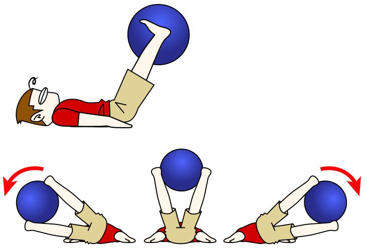 腹筋トレーニング10 バランスボール+ボールサイドレッグレイズ【腹筋下部・腹斜筋・金魚筋】