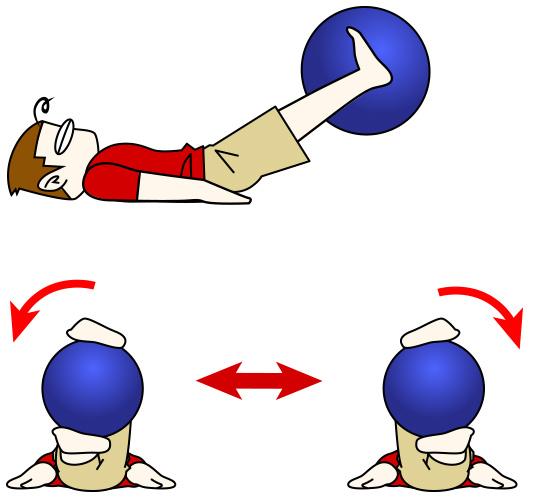 腹筋トレーニング11 バランスボール+ボールツイスト【腹筋下部・腹横筋】