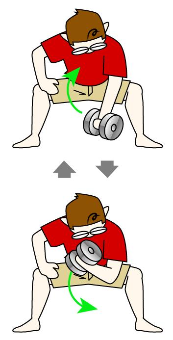 上腕二頭筋トレ|コンセントレーションカール