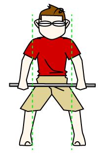 ベントオーバーローイングのフォーム 足幅とグリップ位置