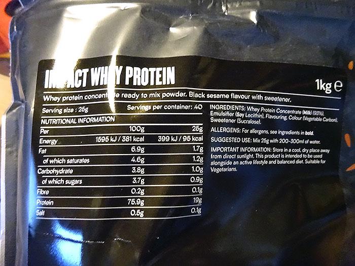 マイプロテイン「黒ゴマ味」の基本情報