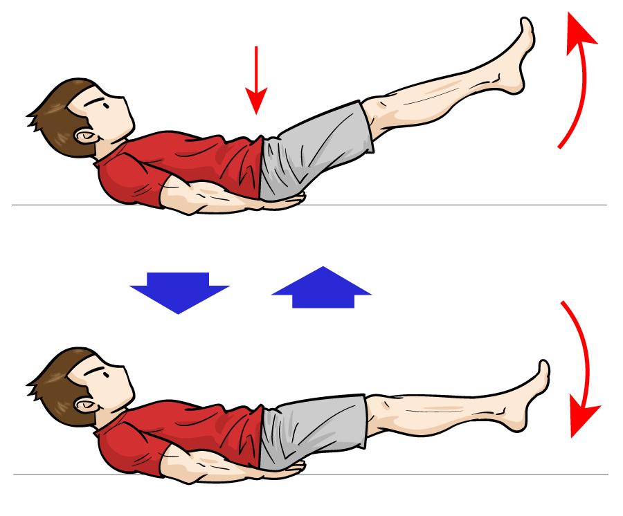 ピンポイントで下腹部を狙うなら「レッグレイズ」:マンガイラストで筋トレ解説